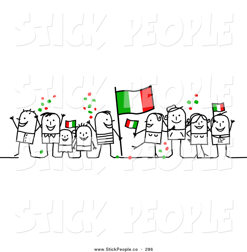 Vector Graphic of a Stick Figure Character Crowd Celebrating with.
