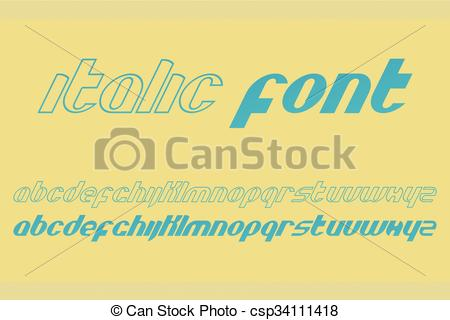 Vector Clip Art of italic performance.