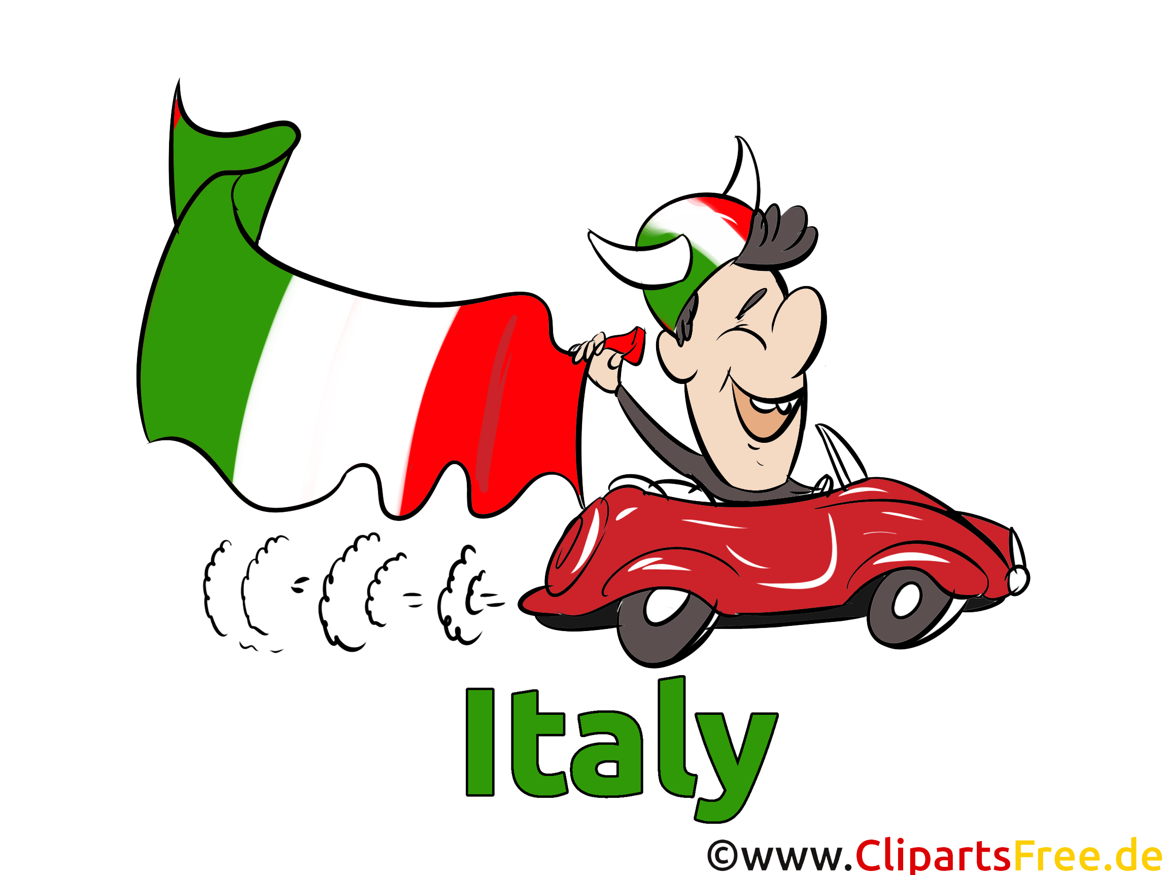 Fussball Clipart Italien kostenlos.