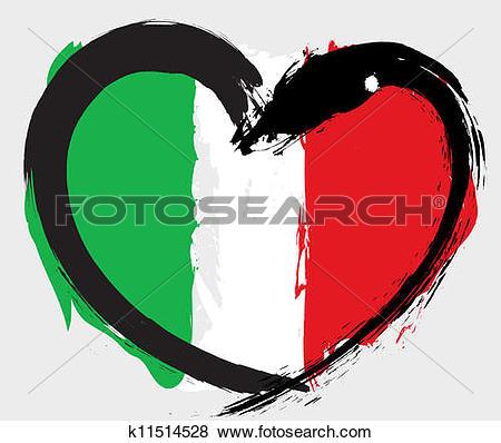 Clip Art of Italian flag. k8044056.