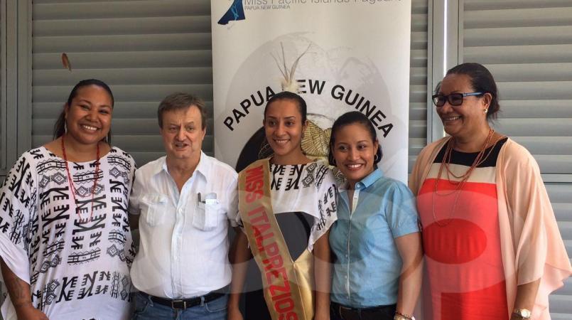 Italpreziosi sponsors Dorothy Elliot for Miss PNG pageant.