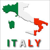 Free clipart map of italy.