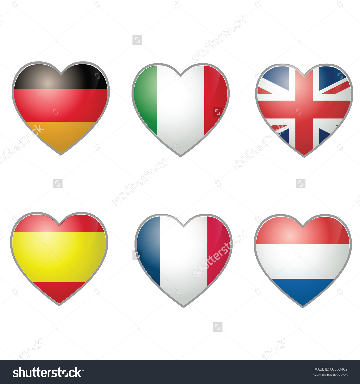 Spain and Italy Clip Art.