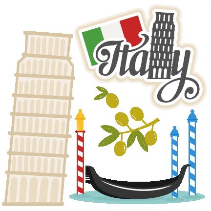 Italian gondola clipart.