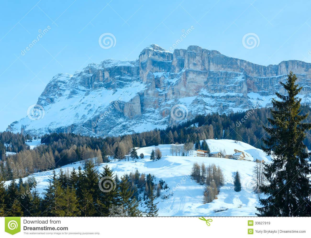 Rocky Mountain Landscape Clip Art.