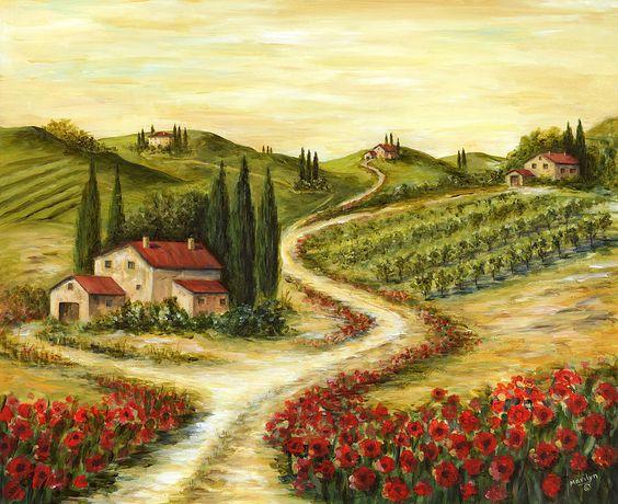 Prints of Tuscany Italy.