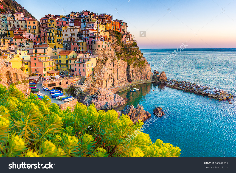 Italian landscape clipart.