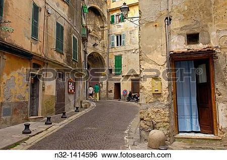 Stock Images of Ventimiglia, Old town, Liguria, Italian Riviera.