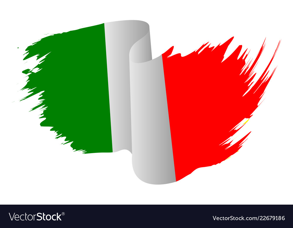 Italy flag symbol icon design italian flag color.