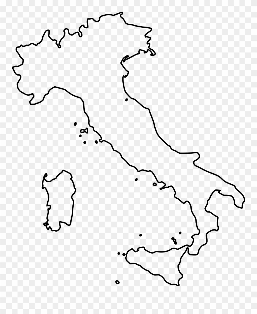Clip Art Royalty Free Stock Outline Map Of Italy Printable.