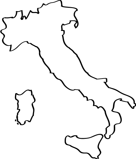 Italy Map Clipart Black And White.