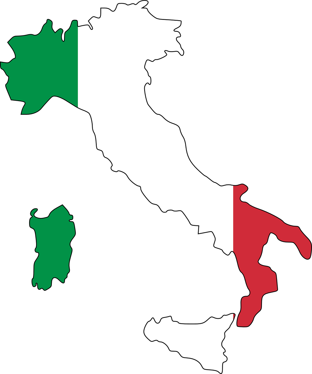 Italy Flag Map Geography Europe PNG.
