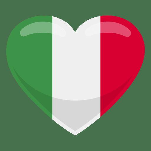 Italy heart flag.