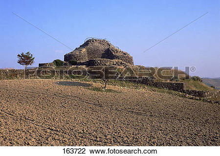 Stock Photo of Ruins of megalithic structure, Nuraghe, Barumini.