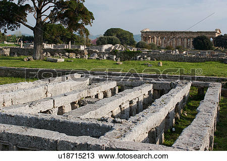 Stock Photo of Greek Temples in Campania, Italy: Ruin of Roman.