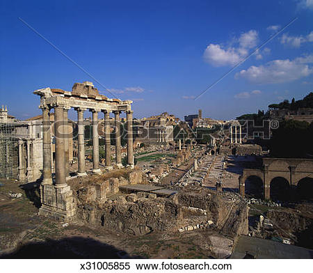 Stock Image of Ruins of the Roman Forum, Rome, Italy x31005855.