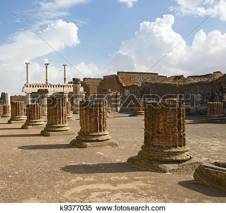 Stock Image of Ruins at Pompeii, Italy k9377035.