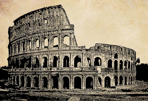 The Colosseum Rome Italy clipart png clip art ancient ruins.