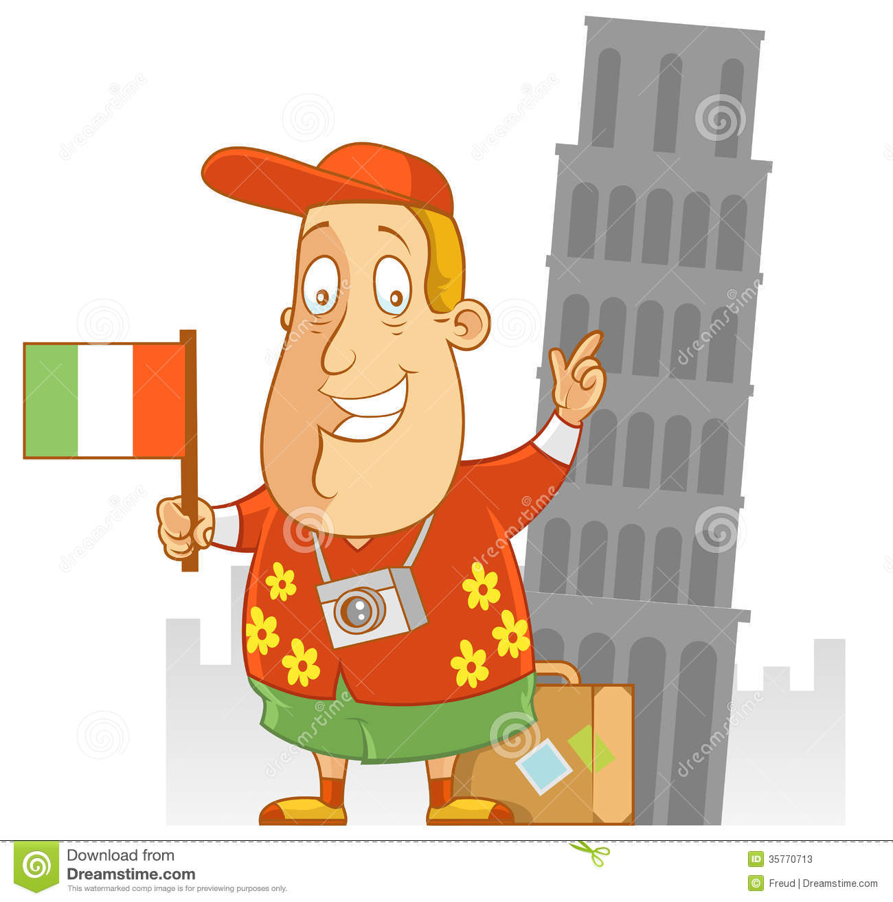 Italy Travel Clipart.