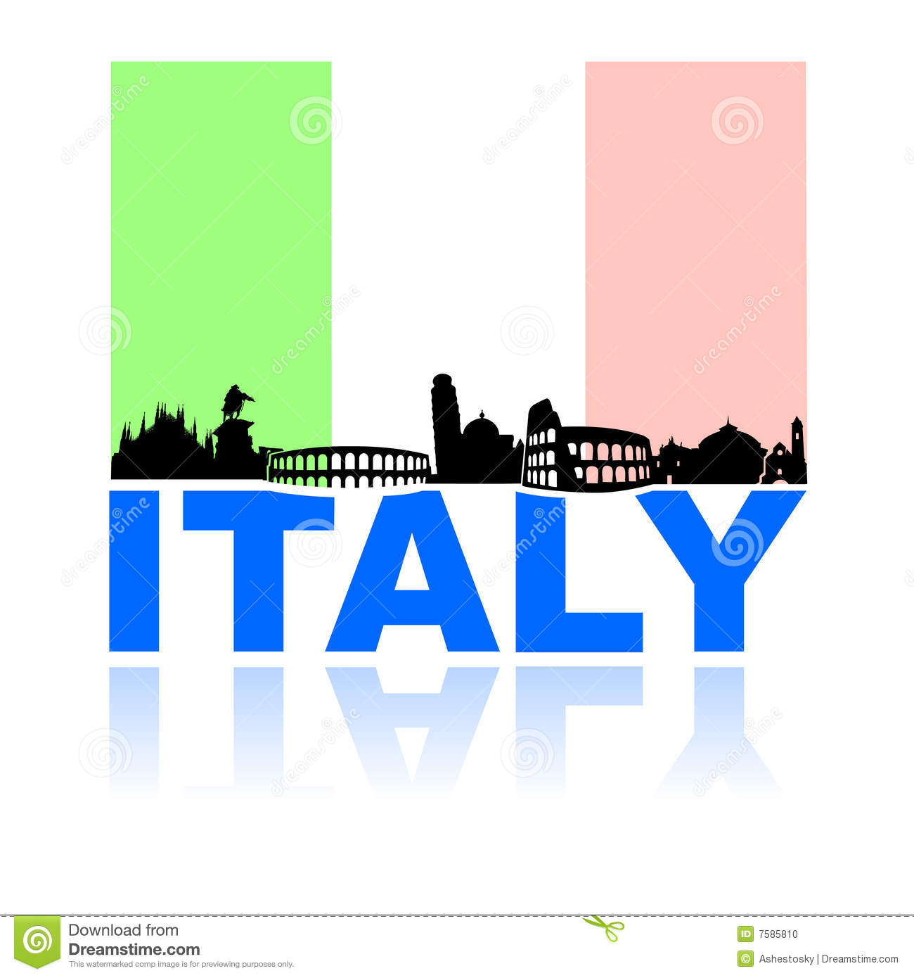 Tour of italy clipart.