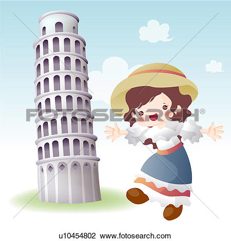 Clip Art of tourist attractions, tourism, sightseeing, national.
