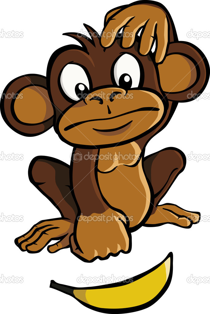 Monkey Itch Clipart.