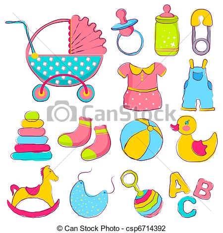 Baby items Clip Art Vector Graphics. 867 Baby items EPS clipart.