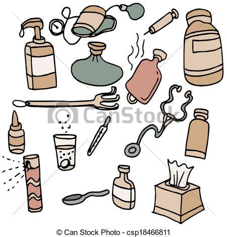 Vector Clip Art of Bathroom Items.
