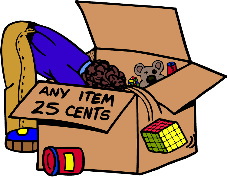 Yard Sale Items Clipart.