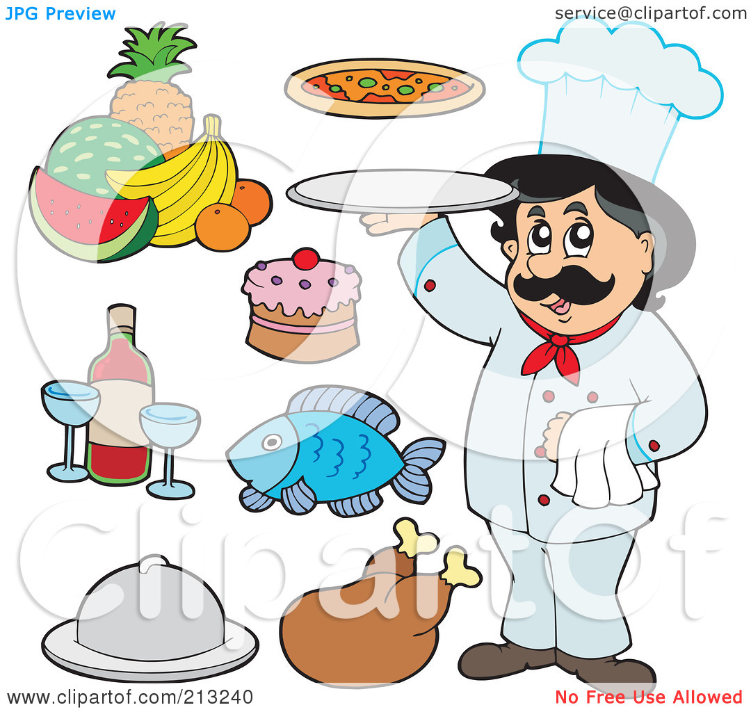 Clipart Of Food Items.