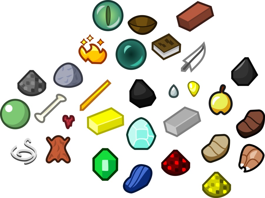 Minecraft clipart items, Minecraft items Transparent FREE.