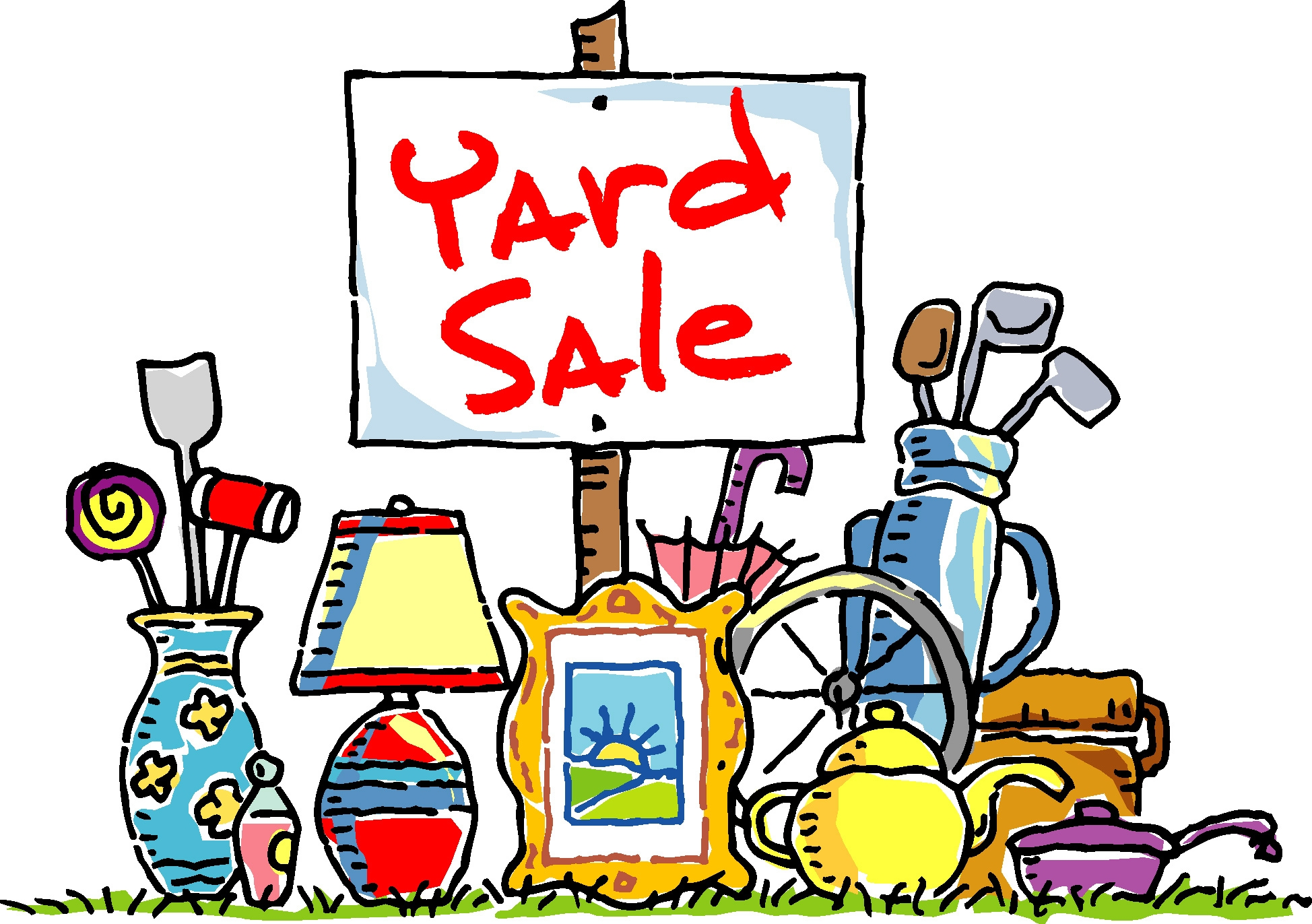Pix For Yard Sale Items Clipart.
