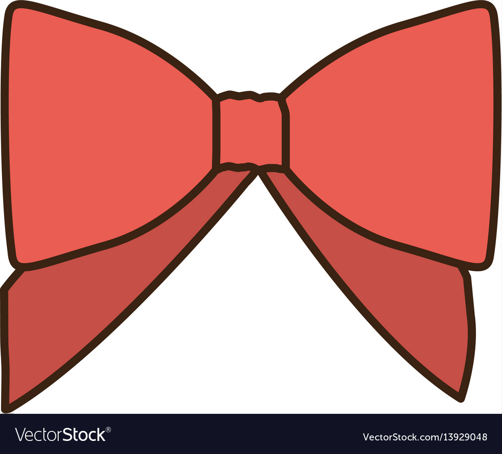 Opaque color cute red ribbon with bow.