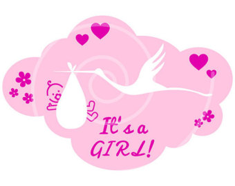 its a girl clipart - Clipground