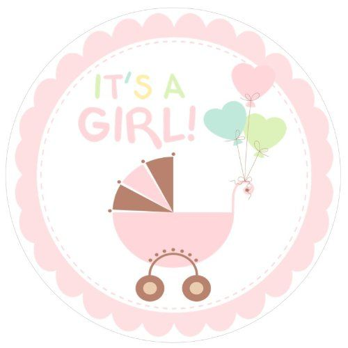 Its A Girl Baby Shower Clipart.