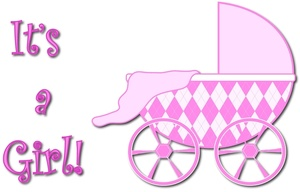 Baby Carriage Clipart Image.