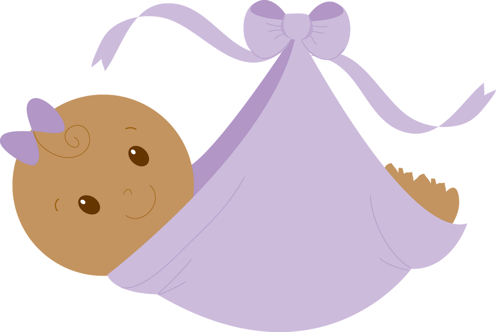 Its A Girl Clipart Purple.