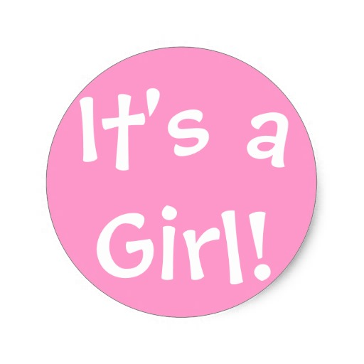 It's A Girl Clipart.