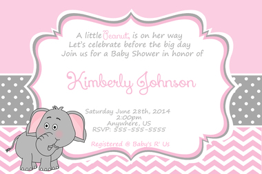 Its A Girl Clipart Elephant Clipground