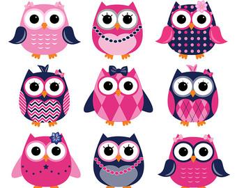 Girl owl clip art.