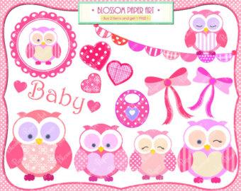 Girl owls clipart.