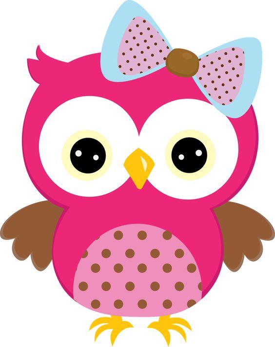 Girl Owl Clipart.