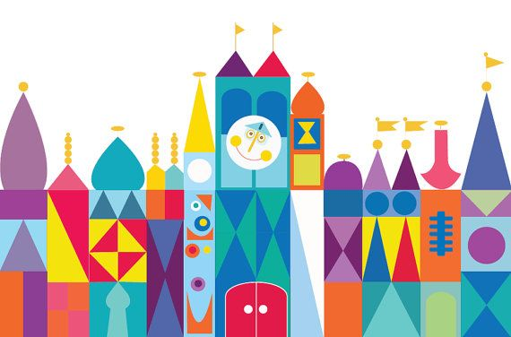 It's a Small World Backdrop Small World Birthday by paperstudioeu.