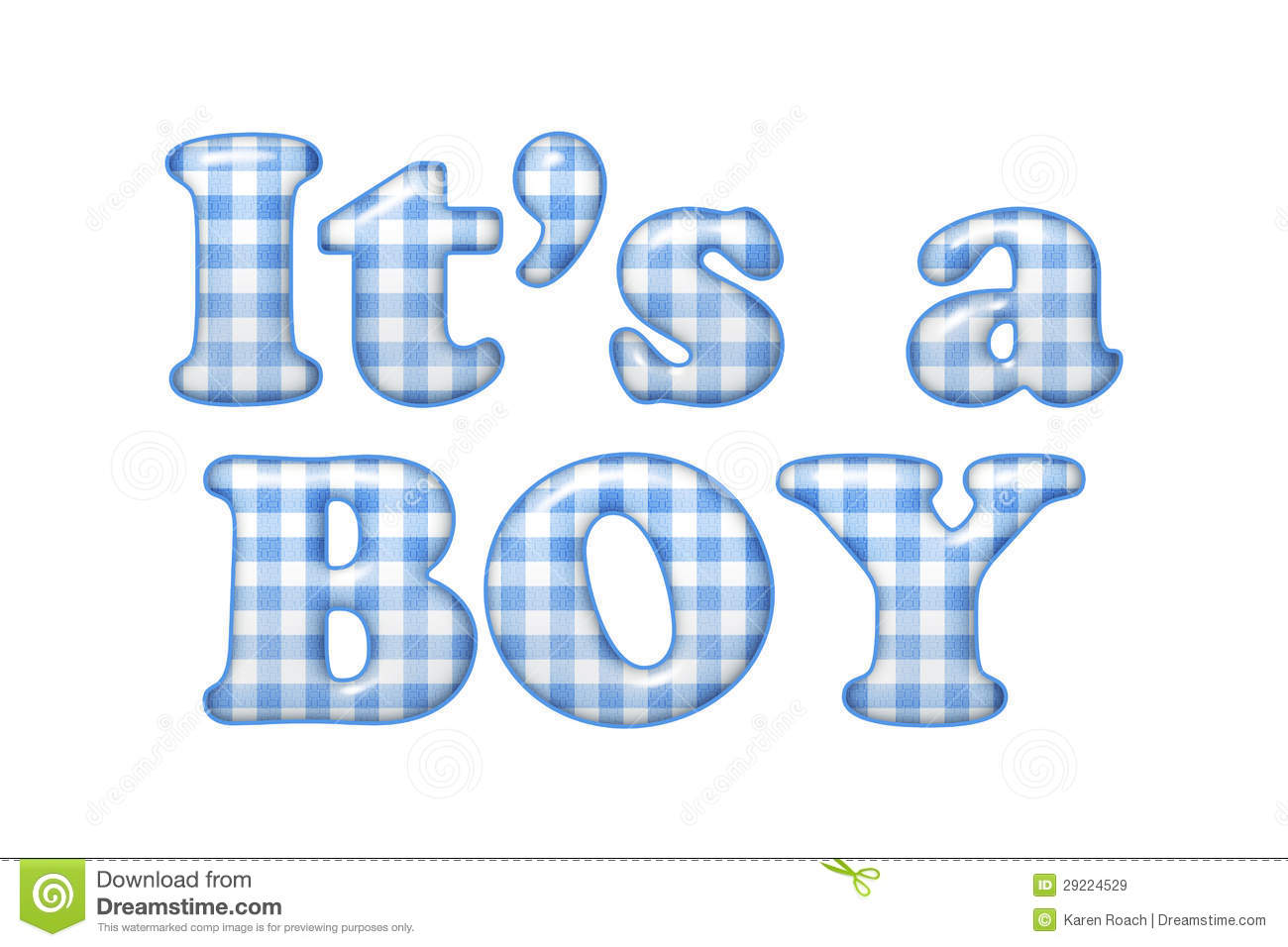 It's A Boy Clipart.