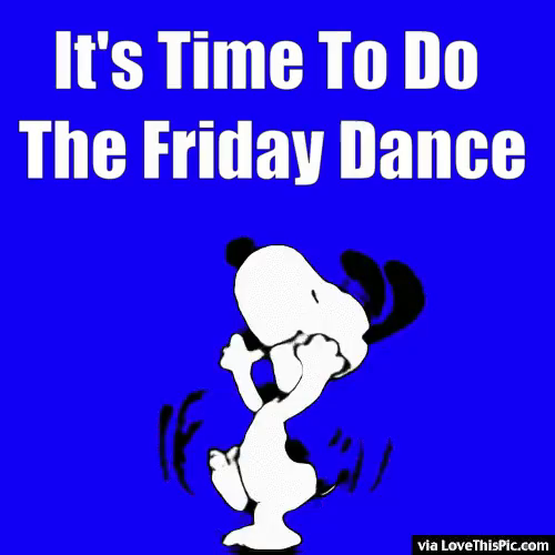 Friday Snoopy GIF.