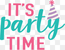 Its Party Time PNG and Its Party Time Transparent Clipart.