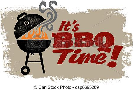 Its Bbq Time Clipart.