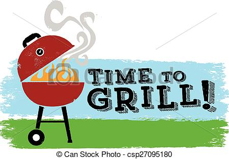 Vector of It's time to Grill BBQ.