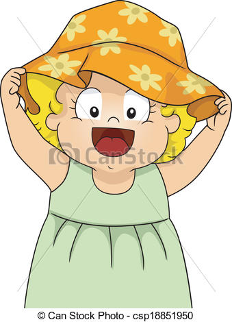 Baby girl hat clipart.