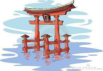 Itsukushima Shrine Stock Illustrations.